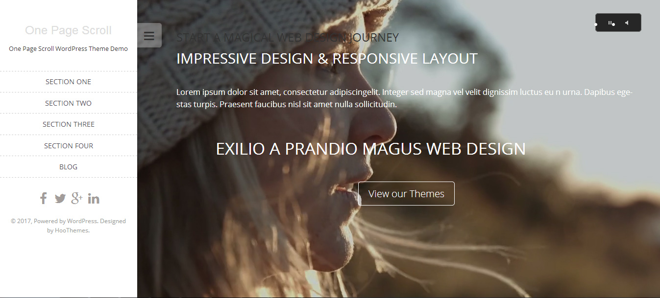 free single page wordpress themes