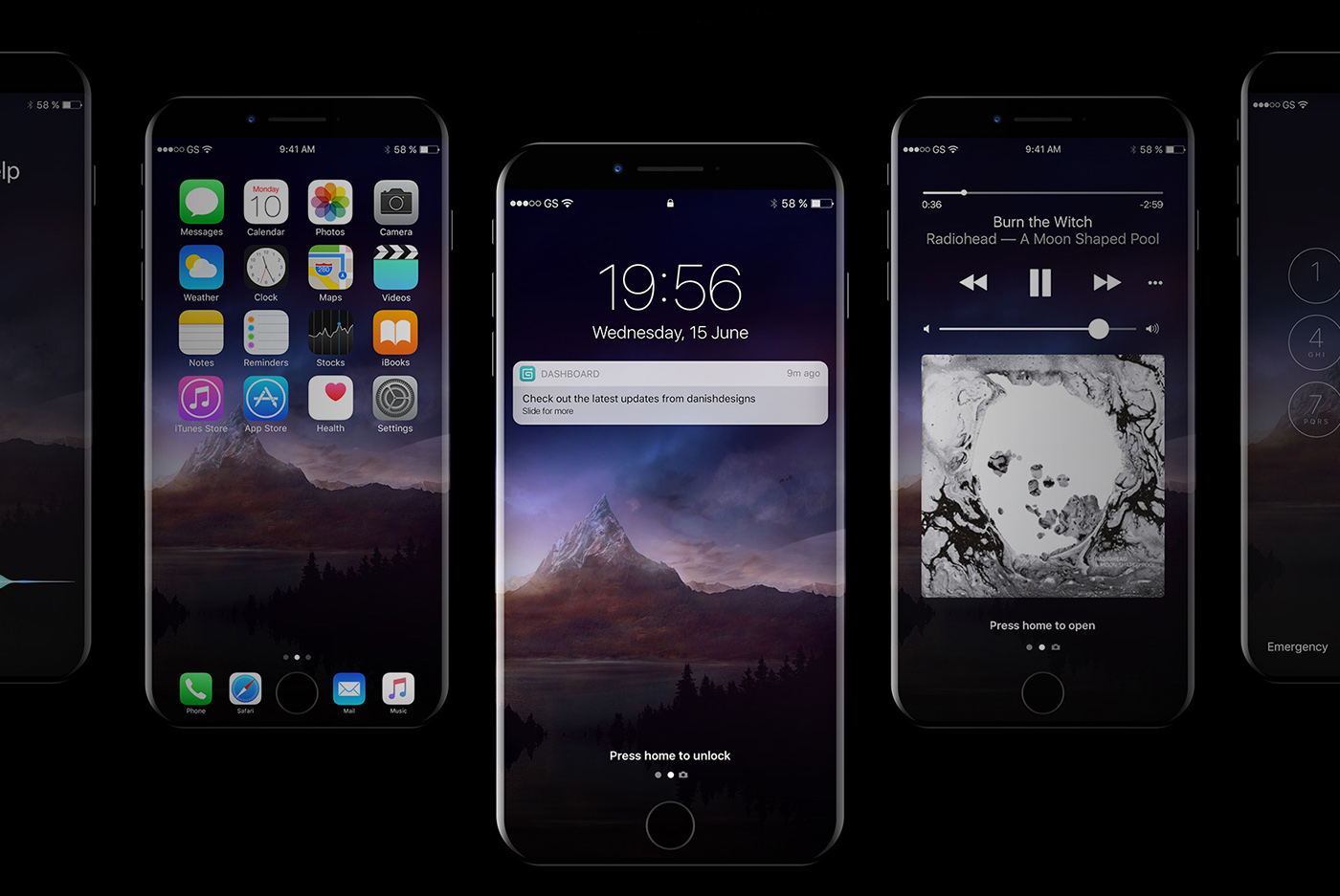 20 Creative iPhone 8 PSD Mockups for Designers - Best Blog Themes
